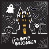 Карточка хеллоуина вектора Стоковое Изображение