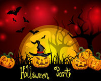 Карточка хеллоуина Стоковые Фото