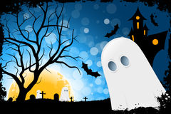 Карточка хеллоуина Grunge Стоковые Изображения
