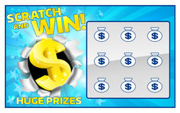 Карточка царапины лотереи бесплатная иллюстрация