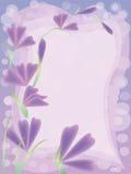 карточка цветет пинк приветствию Стоковое фото RF