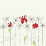 карточка цветет приветствие Стоковое Изображение RF