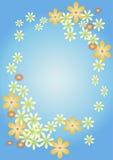 карточка цветет приветствие Стоковые Изображения RF