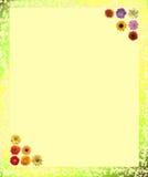 карточка цветет примечания Стоковая Фотография