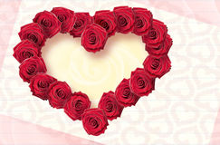 карточка цветет розы Стоковые Изображения RF