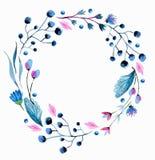 Карточка цветка акварели Стоковое Изображение RF