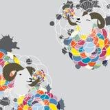 Карточка цветка моды бокового суппорта Стоковые Фотографии RF