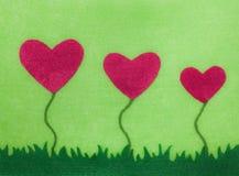 Карточка цветка сердца войлока Стоковое Изображение RF
