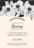 Карточка цветка хризантемы вручную рисуя Стоковое Фото