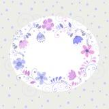 Карточка цветков иллюстрация штока