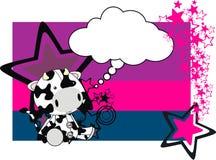 Карточка шаржа плюша коровы Стоковая Фотография