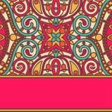 Карточка шнурка Востока яркая Стоковая Фотография