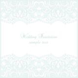 Карточка шнурка свадьбы Стоковые Изображения RF