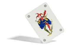 Карточка шутника играя Стоковые Изображения RF