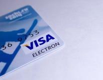 Карточка электрона визы Стоковые Фото