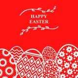 Карточка яичек пасхи декоративная Стоковое Изображение