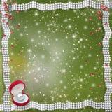 Карточка для годовщины или поздравления к дню валентинки St. Стоковое Изображение