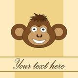 Карточка для дня рождения с обезьяной в EPS 10 внутри Стоковое Фото