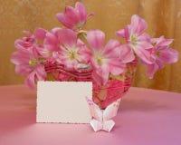 Карточка дня матерей или изображение пасхи - фото штока Стоковое Изображение RF