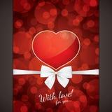 Карточка дня Valentines Стоковое фото RF