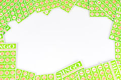 Карточка Bingo аранжирует иметь разбивочную предпосылку космоса Стоковое Фото