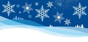 Карточка Christmass с хлопь Стоковые Фотографии RF