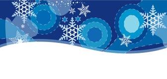 Карточка Christmass с хлопь Стоковые Фото