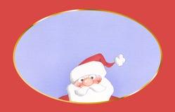 карточка claus santa Стоковые Изображения