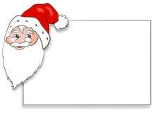 карточка claus santa Стоковое Изображение