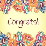 Карточка Congrats абстрактный цветастый вектор Стоковое фото RF