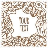 Карточка doodle орнамента Стоковая Фотография RF