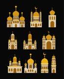 Карточка Eid mubarak с зданием замка комплекта Стоковое Изображение RF