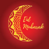 Карточка Eid Mubarak Стоковое Изображение RF
