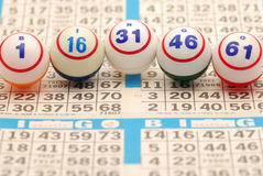 карточка g i n o bingo b вне сказала по буквам Стоковая Фотография RF