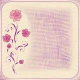 Карточка grunge приглашения флористическая с абстрактной камелией Стоковое Изображение