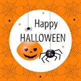 карточка halloween Плоская иллюстрация вектора дизайна Стоковая Фотография RF