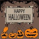 карточка halloween счастливый также вектор иллюстрации притяжки corel иллюстрация штока