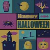 карточка halloween счастливый Стоковые Изображения
