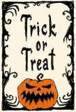 карточка halloween также вектор иллюстрации притяжки corel иллюстрация штока