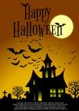 карточка halloween Стоковое Изображение