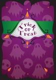 карточка halloween Стоковая Фотография RF