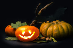 карточка halloween Стоковые Изображения RF