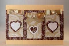 карточка handmade стоковые фотографии rf