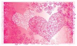 Карточка II сердца влюбленности St.Valentine красная Стоковое Изображение RF