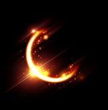 Карточка kareem Рамазана с луной и пирофакелами Стоковое фото RF