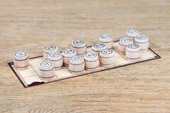 Карточка Lotto с бочонками Стоковая Фотография