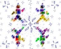 Карточка 2017 PF иллюстрация вектора