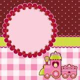 Карточка Princess розовая Стоковое Фото