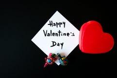 Карточка ` s валентинки на черной предпосылке стоковая фотография rf