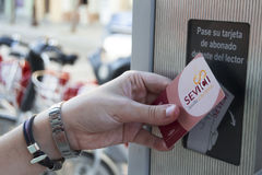 Карточка Sevici Стоковые Фотографии RF